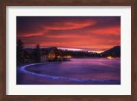 Framed Everygreen Lake Sunrise