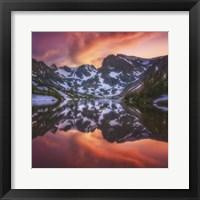 Framed Indian Peaks Reflection