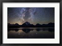 Framed Jackson Lake Milky Way