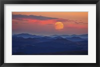Framed Supermoon at Sunrise