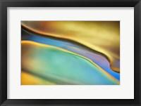 Framed Yellow and Aqua Blue Flow