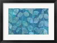 Framed Leaf Pattern Blue