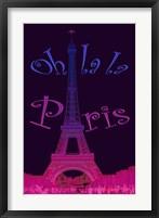 Framed Oh La la Paris