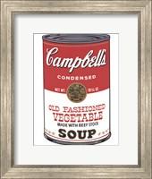 Framed Campbell's Soup (Ica)