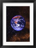 Framed Bright Blue Earth