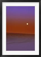Framed Moon Over the Sandy Desert