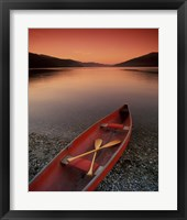 Framed Red Canoe
