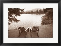Framed Two Chairs at Waters Edge