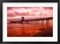 Framed Pier in Red