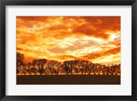 Framed Red Sky with Clouds