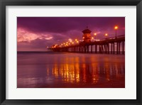 Framed Pier with Purple Sky