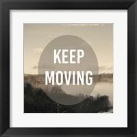 Foggy Mountain Motivation II Framed Print