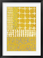 Framed Golden Blockprint I