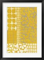 Golden Blockprint II Framed Print