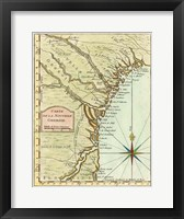 Framed Petite Map of Georgia