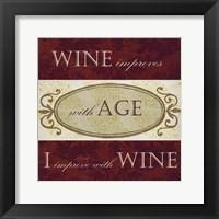 Framed Wine Phrases III