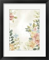 Soft Flower Collection II Framed Print