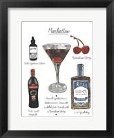 Framed Classic Cocktail - Manhattan