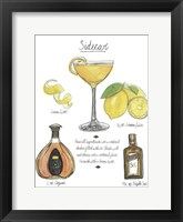 Framed Classic Cocktail - Sidecar