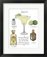 Framed Classic Cocktail - Margarita