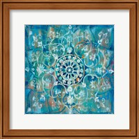 Framed Mandala in Blue I