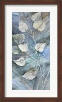 Framed Silver Leaves I