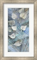 Framed Silver Leaves I