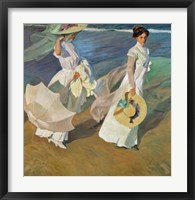 Framed Paseo a Orillas del Mar (Promende on the beach), 1909