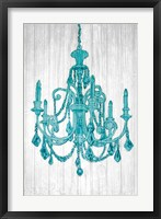 Framed Luxurious Lights III Turquoise