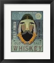 Framed Fisherman V Old Salt Whiskey