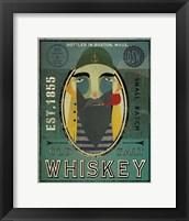 Framed Fisherman VII Old Salt Whiskey