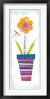 Framed Collage Flower I Border