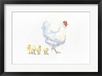 Framed Hen and Chickens