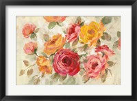 Framed Brushy Roses