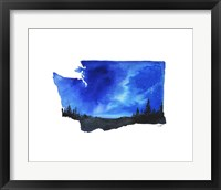 Framed Washington State Watercolor