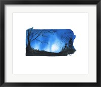 Framed Pennsylvania State Watercolor
