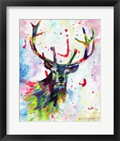 Framed Color Stag