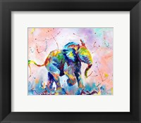 Framed Colorful Elephant