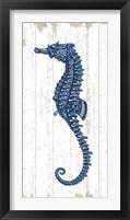 Framed Seahorse in Blue II