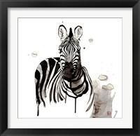 Framed Zebra I