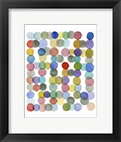 Framed Series Colored Dots No. II