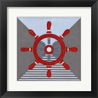 Framed Nautical Graphic IV