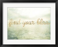 Framed Water Bliss I