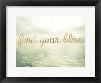 Framed Water Bliss I