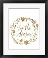 Framed Golden Christmas I