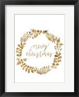 Framed Golden Christmas III