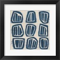 Framed Indigo Signals III