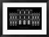 Framed Vintage Facade Blueprint I