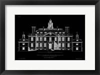 Framed Vintage Facade Blueprint III