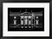 Framed Vintage Facade Blueprint V